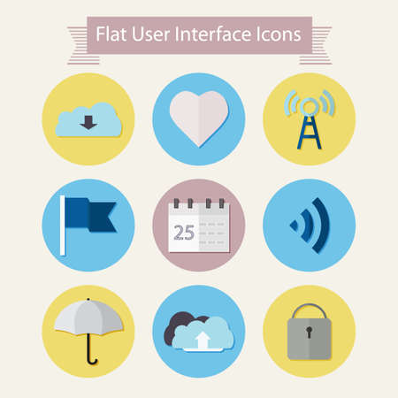 user interface: Flat modern icons for user interface Illustration