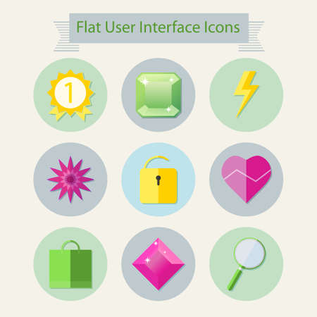 user interface: Flat modern icons for user interface