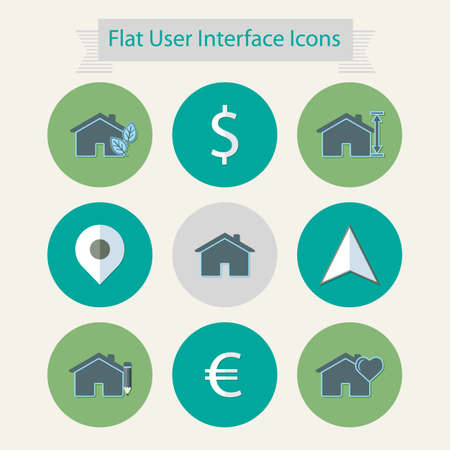 linkage: Flat modern icons for user interface