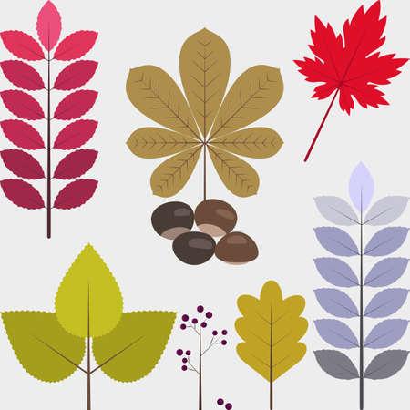 Set of flat design autumn icons 01 写真素材 - 110299654