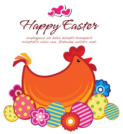 easter layout Vector