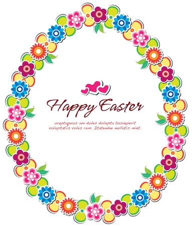 easter floral frame Stock Vector - 12847114