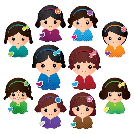 Dolly girls Vector