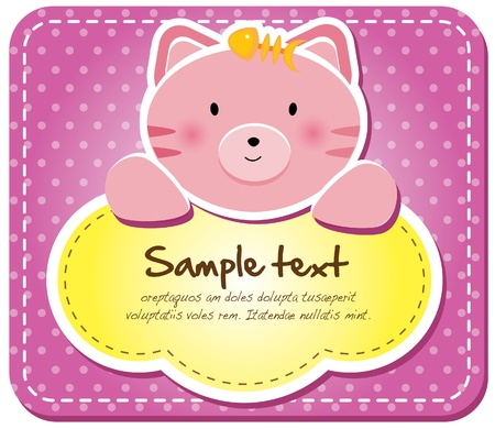 Animals frame collection  Kitty version,17 animals available 免版税图像 - 12847148