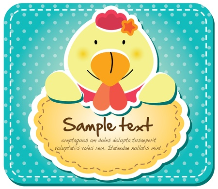 Animals frame collection  Chicken version,17 animals available  Vector