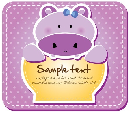 Animals frame collection  Hippo version,17 animals available  Vector
