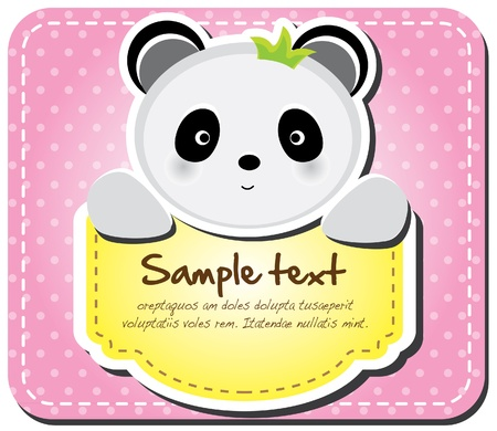 Animals frame collection  Panda version,17 animals available  Stock Vector - 12847126