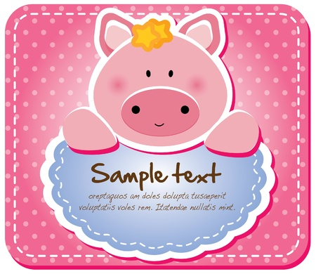 Animals frame collection  Piggy version,17 animals available  Vector