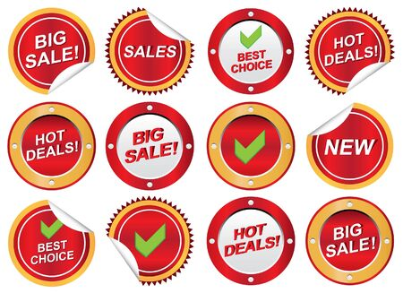 Rounded business icons Stock Vector - 12847198