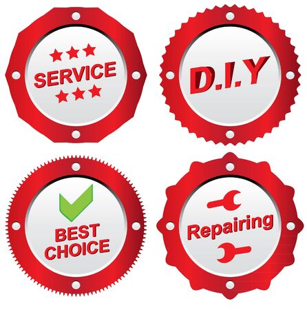 servicing related icons collection
