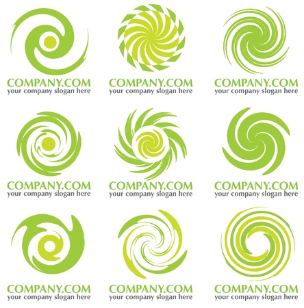 abstract afgerond bedrijf icoon