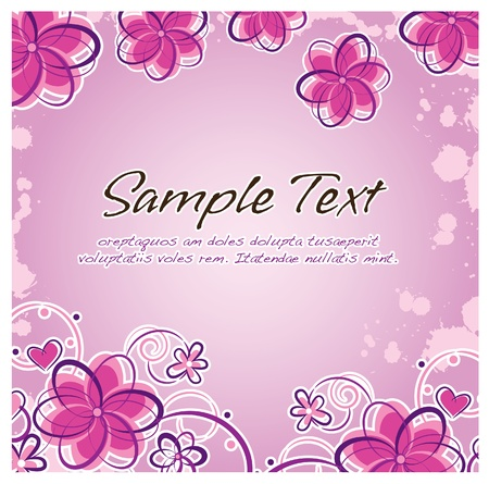 abstract purple color floral layout Vector