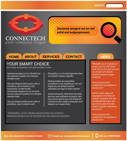 Business use web template in orange theme Vector