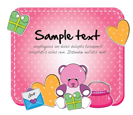 cutesy baby arrival layout Stock Vector - 12847229