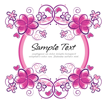 romantic floral frame Illustration