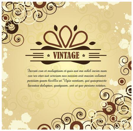 Vintage swirly layout Vector