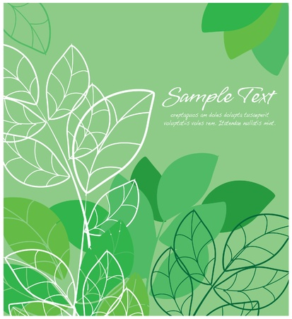 tittle: Abstract floral  green layout