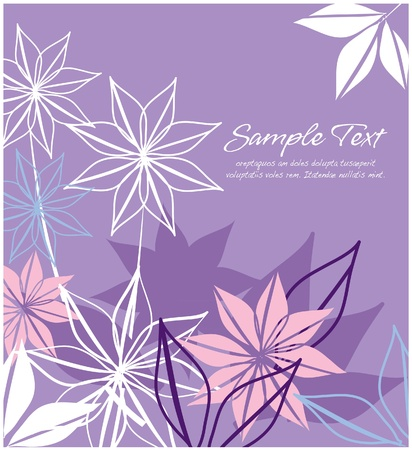 artistic flower: Abstract floral  purple layout
