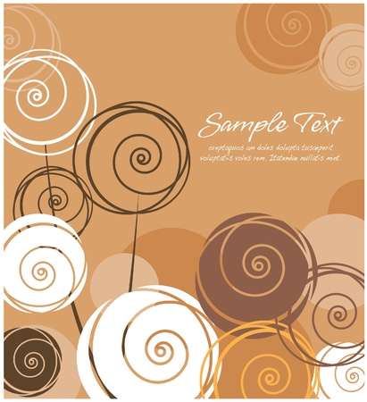 Abstract floral  brown layout  Vector