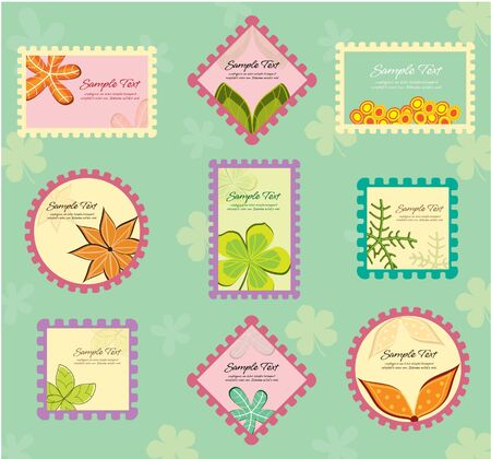 stamp inspired floral frames photo
