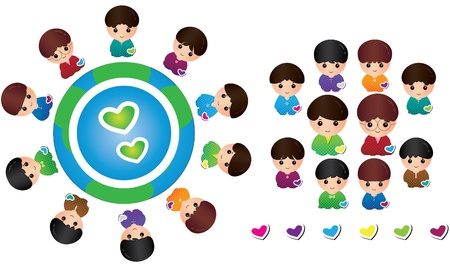 Boys collection  girls version available Stock Vector - 13249019