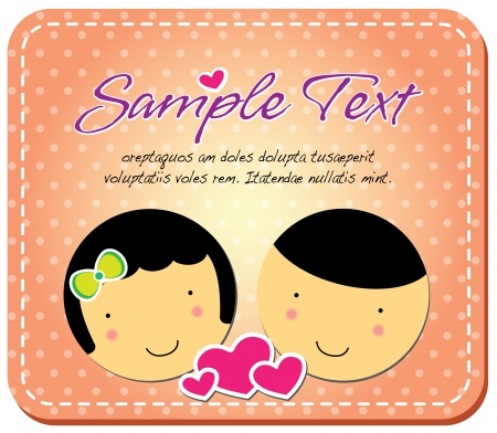 cartoon couple greeting card Vector