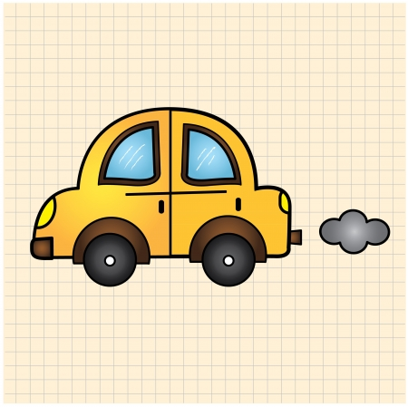 childlike car Vector