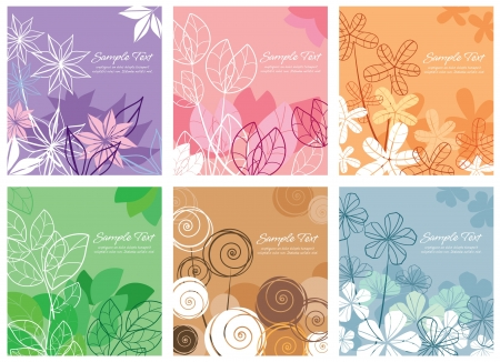tittle: floral background collection