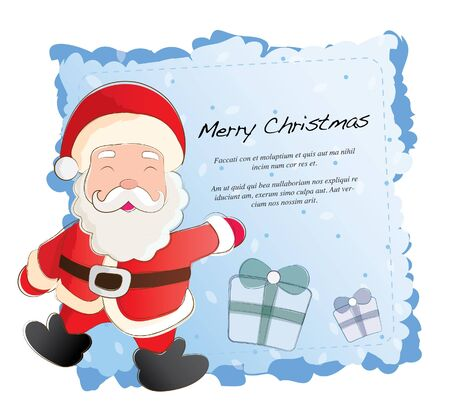 hand drawn series- santa claus Vector