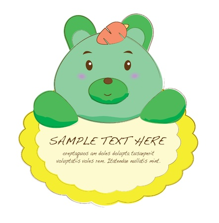 cute text box: hand drawn animal frames series-rabbit