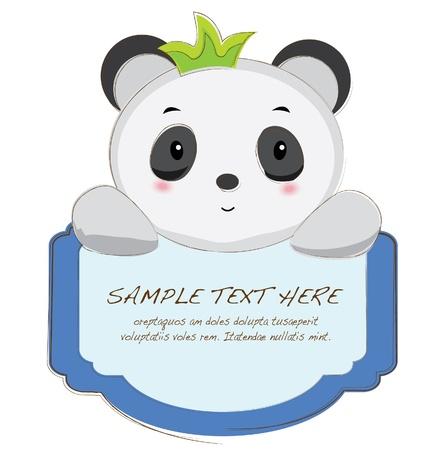 babyish animal: hand drawn animal frames series-panda
