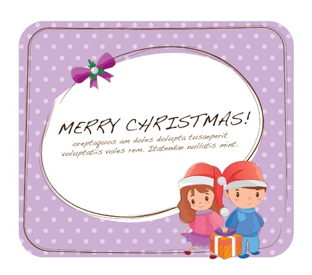 Hand drawn layout series -christmas couple Stock Vector - 15041483