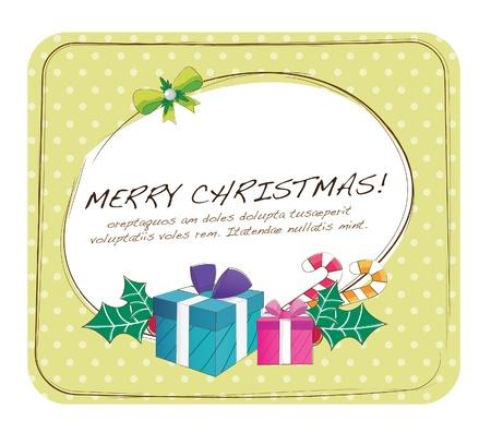 Main dessinée mise en série des cadeaux de Noël