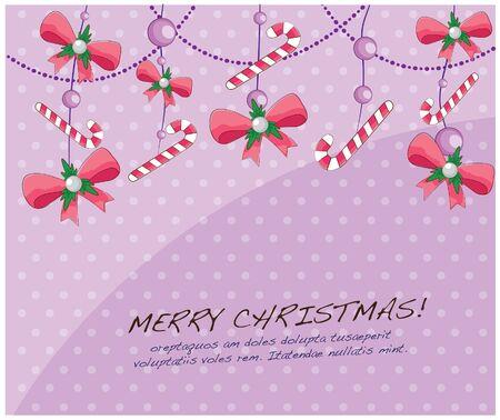 hand drawn christmas layout series-hanging ribbons Stock Vector - 15041488