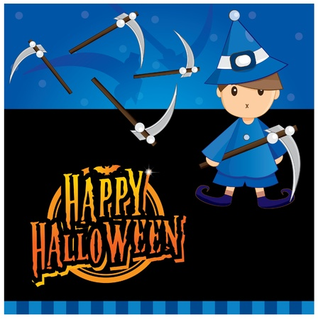 Halloween invitation card layout series -halloween boy Vector