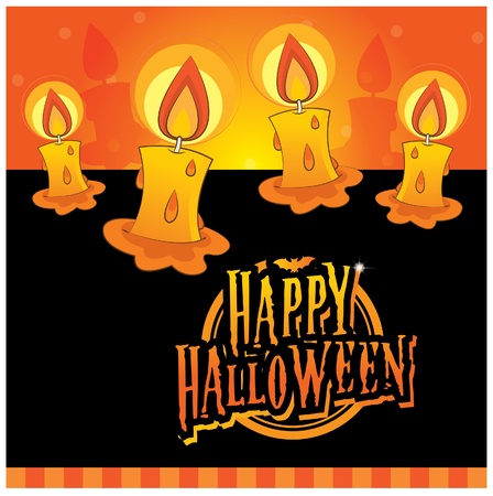 Halloween invitation card layout series -glowing candles