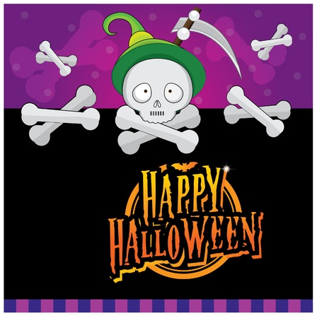 Halloween invitation card layout series -halloween skull Vector