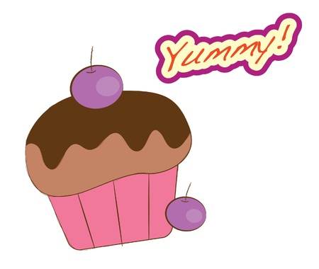 Dessert series -blueberry muffin Stock Vector - 15983665