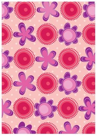 kiddy: secret garden wallpaper series -pink romance Illustration