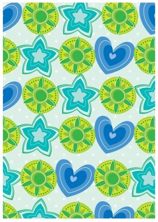 secret garden wallpaper series -blue stars Vector