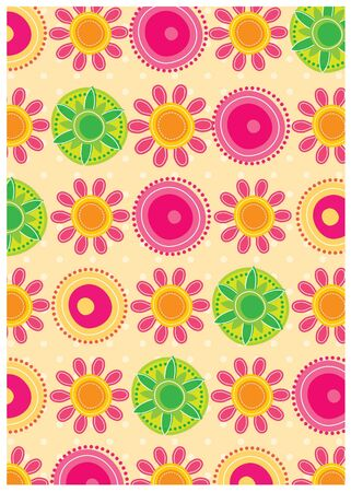 secret garden wallpaper series -sunny floral Vector