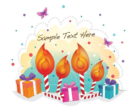 funky background series -candles celebration Vector