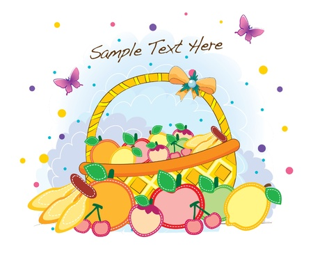 funky background series -fruitful summer Vector