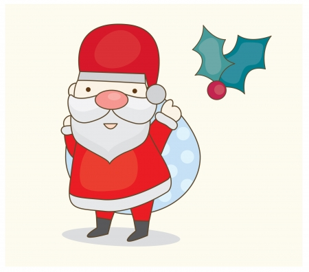 bolsa de regalo: Santa de la Navidad con bolsa de regalo