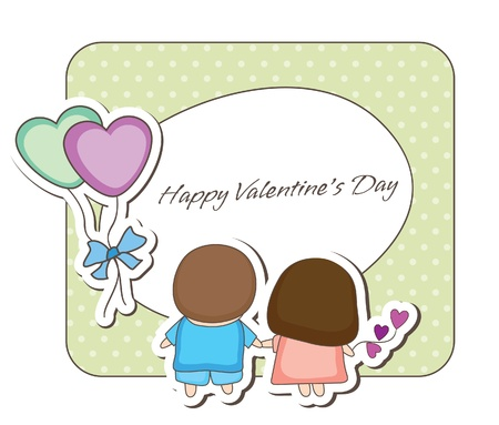 Lovey couple frames -couple back view Vector