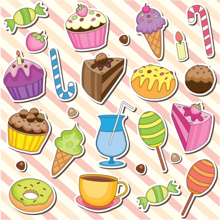 Cute Sweet Dessert Clip Art Illustration