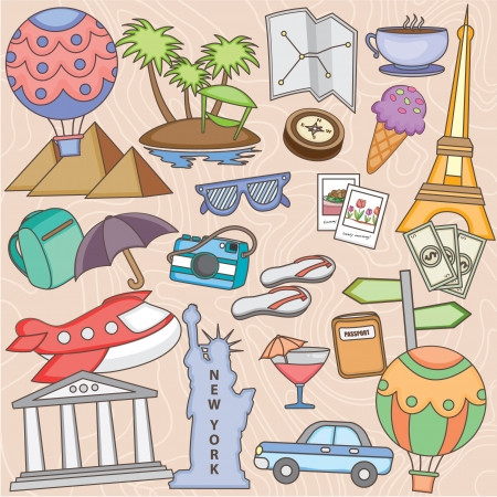island clipart: Happy holiday clip art set