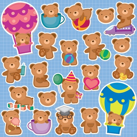 Cute Teddy Bear Clip Art Vector