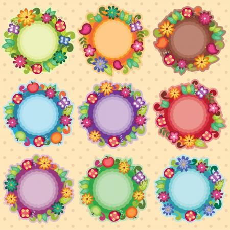 lady bug: Funky Floral Frames