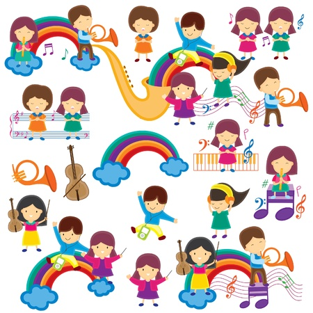 Happy Music Kids  Vector